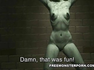 Restrained D Zombie Babe Fingered