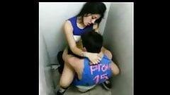 Caught Fucking in College Toilet