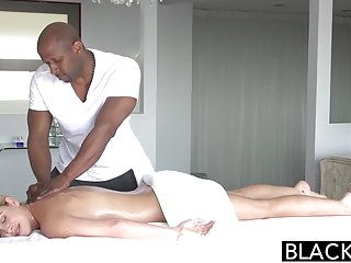 Preview 1 of BLACKED Hot Blonde Cherie Deville Takes Big Black Cock