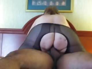 Aunt . Sue torn panty hose fuck