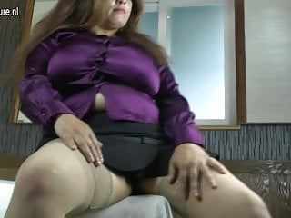 Old hard cock - Latin mom with huge rack enjoys a hard cock