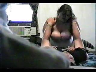 Horny Fat BBW fuckfriend riding cock on hidden Cam