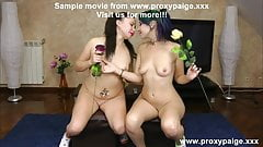 Proxy Paige & Sofia Gadget anal fisting & insertions lesbian