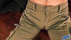 Big Ass Bruette Milf! Tight Pants Exposing Cameltoe, Busty!