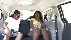Black girl with huge ass picked up and fucked in van
