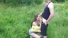 two girl sucks dick in the park