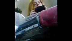 sexy redhead on train upskirt pt 2