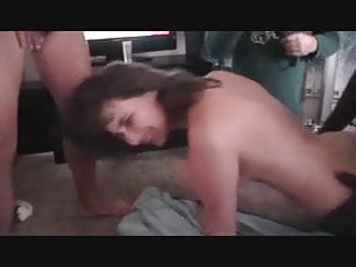 first time gangbang with hard anal