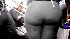 Bubble Butt Ebony Teen in Grey Sweats