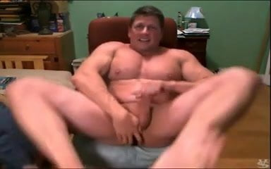 Daddy on cam with a buttplug
