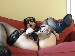 Panty masturbation and licking