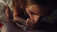 Минет и сперма на моей 23-летней бывшей подруге в любительском видео