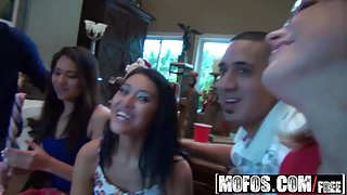 Real Slut Party - Christmas Morning Dirty Party starring  Ja