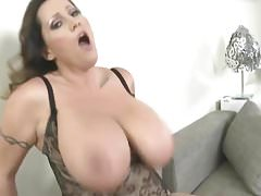 Brunette with huge tits gets sex.mp4