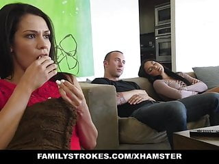 familyStrokes - Fucked not My bro On Movie Night