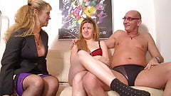 Younger nervous amateurs first threesome's Thumb