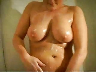 Fat Chubby Ex GF blowjob in the shower with Cum swallowing