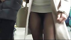 Mini dress and pantyhose