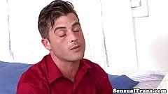 Trans girlfriend assfucks ex hubby balls deep