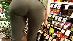 Nice ass in grey tights