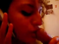 arab blowjob while on phone with boyfiend