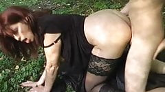 Mature fucked outdoors