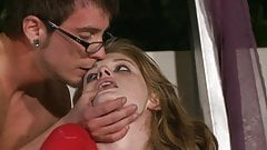 Geeky guy fucks Faye and Louisa after they 69 in bed