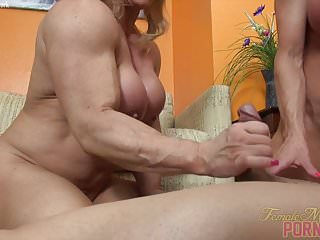 Preview 2 of Two Female Bodybuilders Fuck One Dude