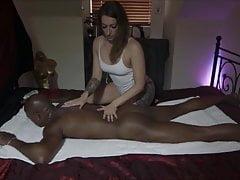 BBC fuck after Massage
