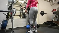 wow!!! fitness hot ASS hot blonde