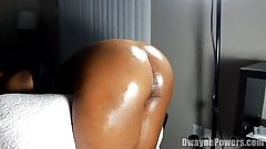 Creamy Black Pussy Close-up Doggystyle