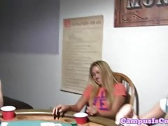 Amateur college teens pussylicking and toying