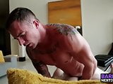 Markie bends him over and fucks him raw