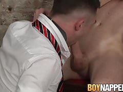 Naughty Sean Taylor pleasures his slave Michael Wyatt