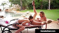 Naughty Nympho Natalia Starr Eats Jillian Janson's Pussy!
