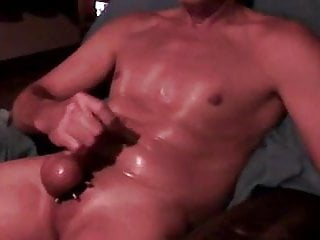 oiled up and ready for a visit from a big hard cock