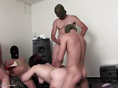 Taboo party with mature mom and young boys