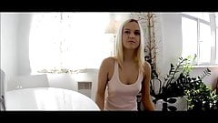 sexy blonde teen first casting