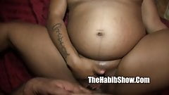 Thick ghetto pregnant pussy mixed freak lov her juicy pussy