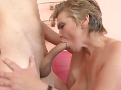 Horny Granny And A Young Guy