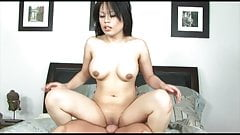 Asian MILF gets her cunt licked by a ripped dude