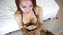 Mia takes it up the ladyboy ass