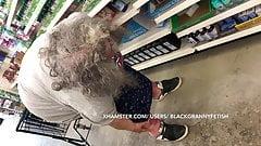 Fat White Granny Upskirt