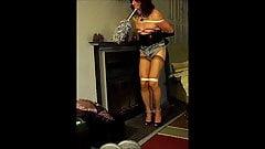 TV slut housework: dusting