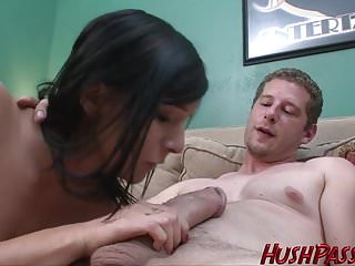 First timer Ashli gets schooled with a huge cock!