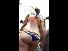 Candid Rainbow Bikini Bubble Butt Butterfly