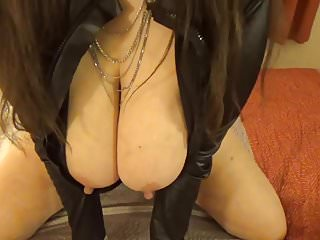Tinja Unzips Her  Piece For You To View Her Perfect Boobs