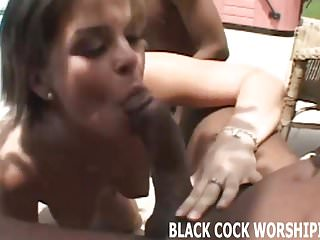 Big black cock feels so good in my tight white pussy