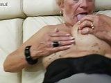 Old grandma gets her beaver wet