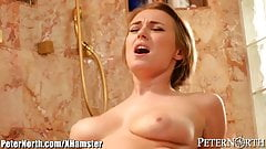 Polish Babe Natalia Starr joins her Man in Shower